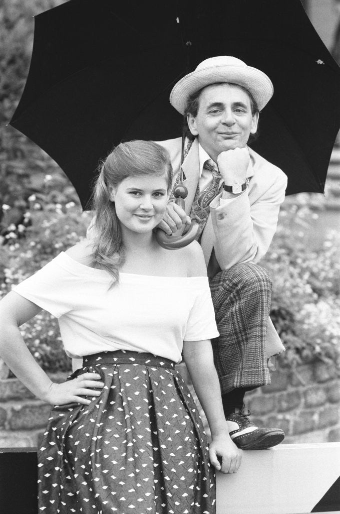 Detail of Dr Who Sylvester McCoy with Sophie Aldred as Ace his assistant by Anonymous