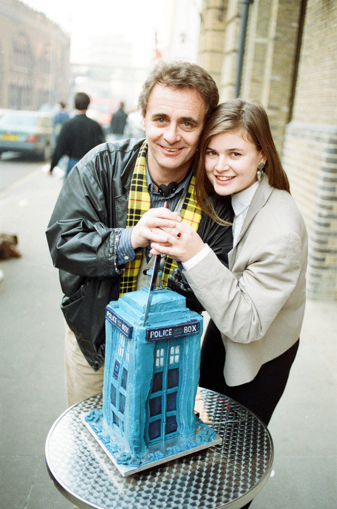 Detail of Dr Who, Sylvester McCoy, with his assistant Ace alias Sophie Aldred by Anonymous