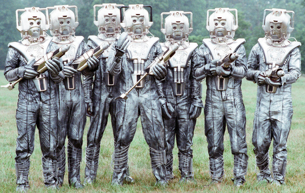 Detail of Extras dressed as Cybermen by Anonymous