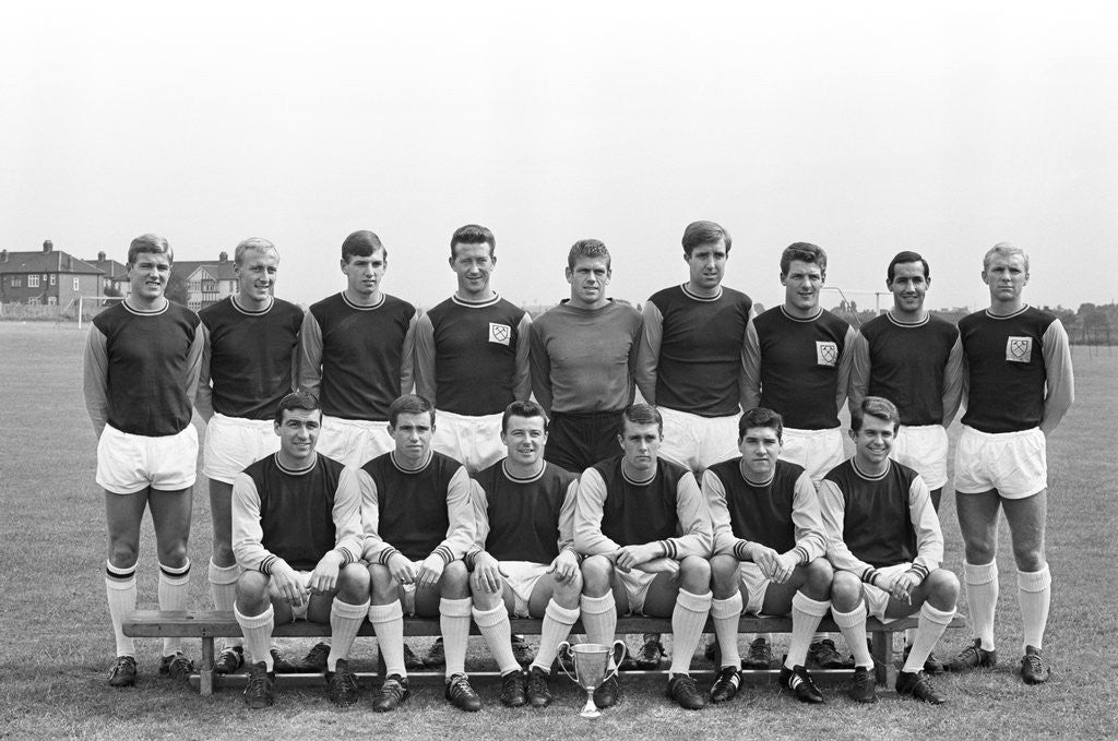 Detail of West Ham FC team line up 1963 by Staff