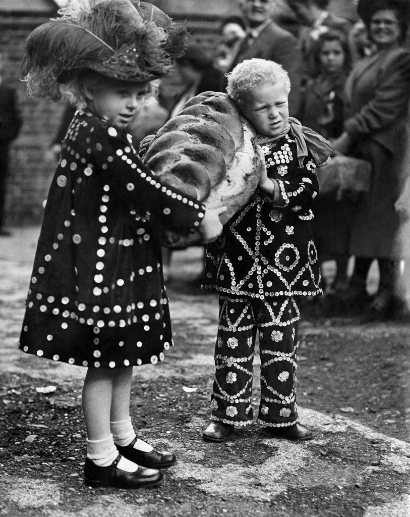 Detail of London's Pearly Kings and Queens, Princes and Princesses by Staff