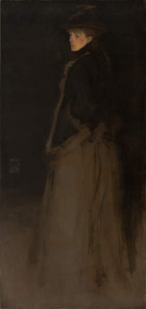 Detail of Arrangement in Black and Brown, the Fur Jacket by James Abbott McNeill Whistler
