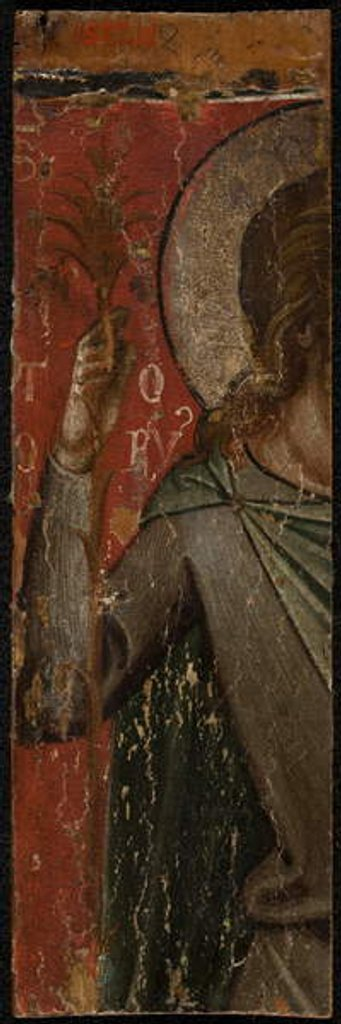 Detail of Saint John the Baptist, mid-1300s by Paolo Veneziano
