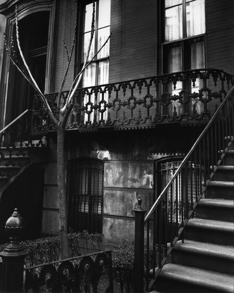 Detail of Brownstone in the Fifties, Manhattan 1947 by Corbis