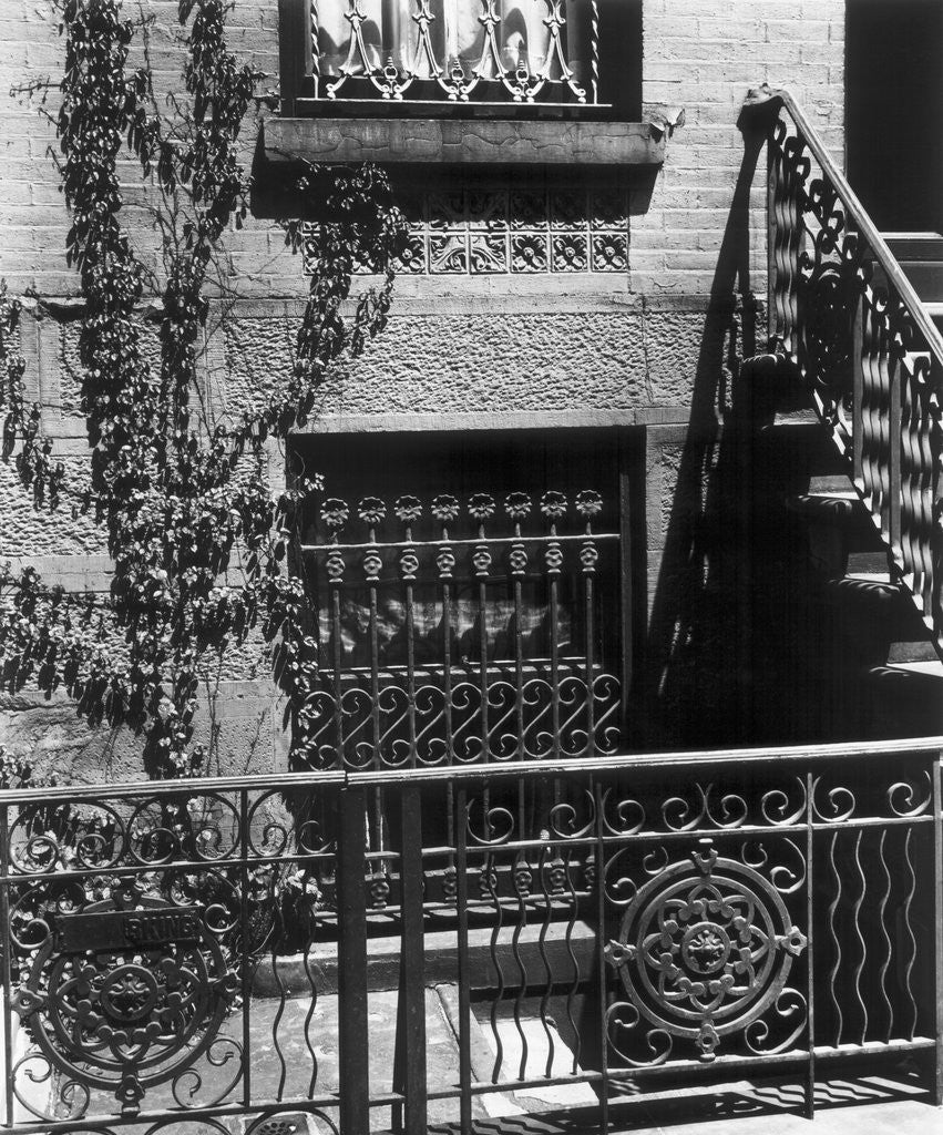 Detail of Brownstone Windows, Manhattan, 1944 by Corbis