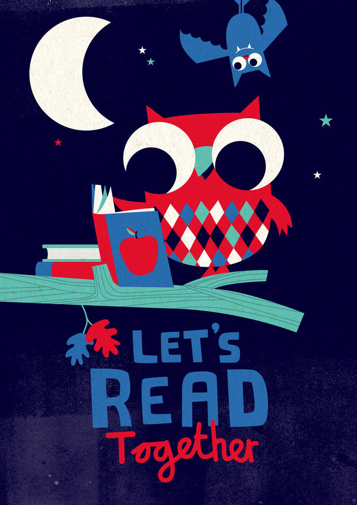 Detail of Let's Read by Spencer Wilson