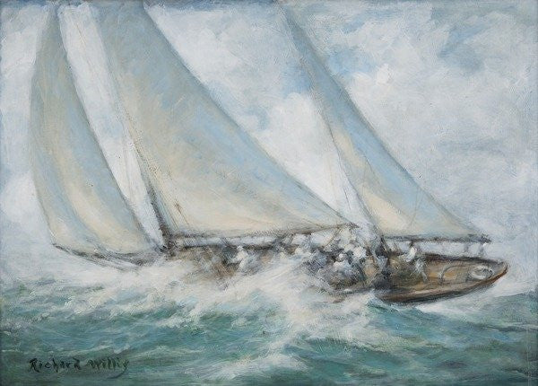 Detail of Classic Yacht - 'Twixt Wind and Water' by Richard Willis