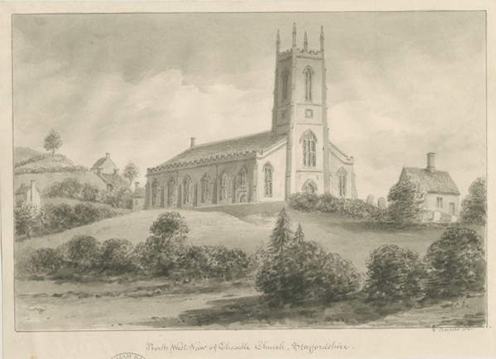 Detail of Cheadle Church by George Buckler