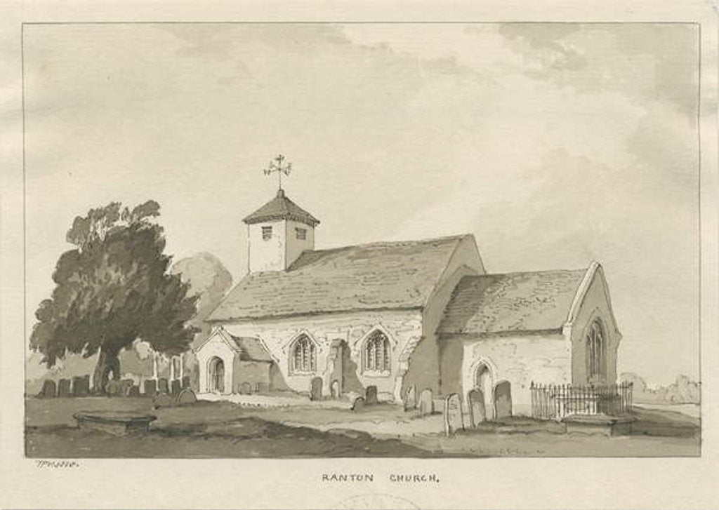 Detail of Ranton Church by Thomas Peploe Wood