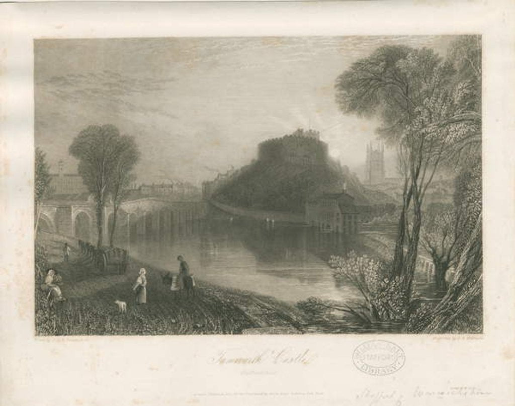 Detail of Tamworth Castle by James Tibbitts Willmore