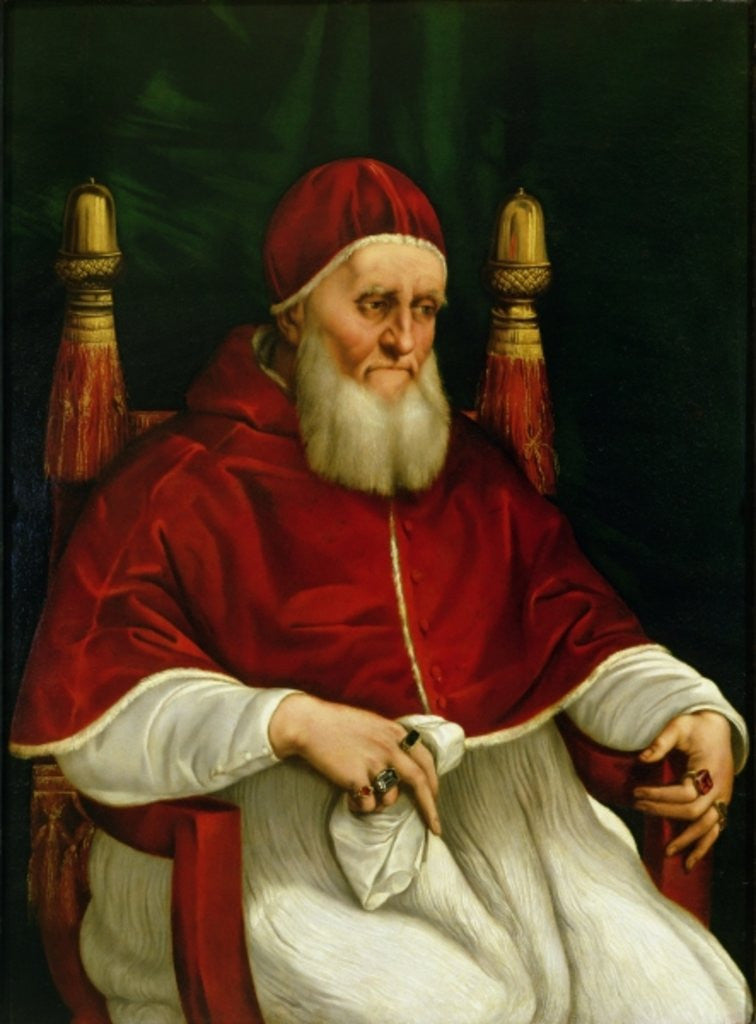 Detail of Portrait of Pope Julius II by Raphael