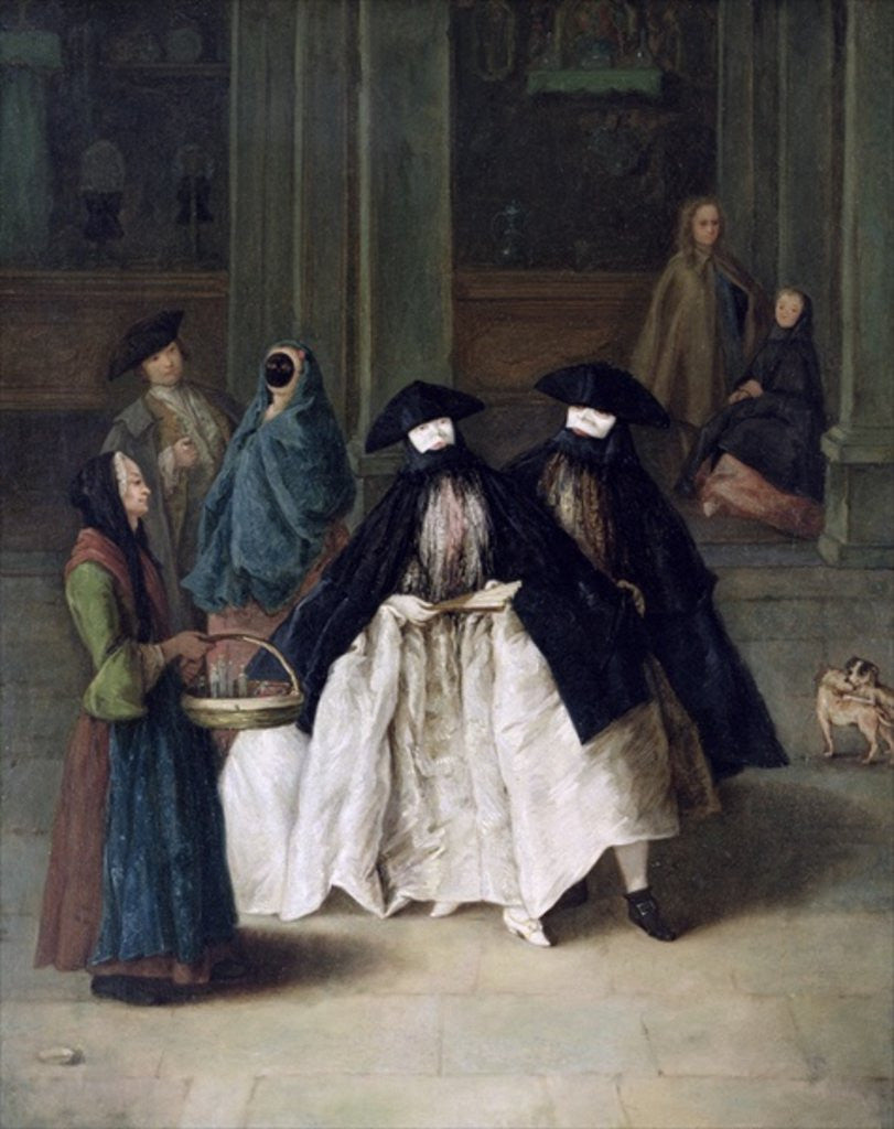 Detail of The Perfume Seller by Pietro Longhi