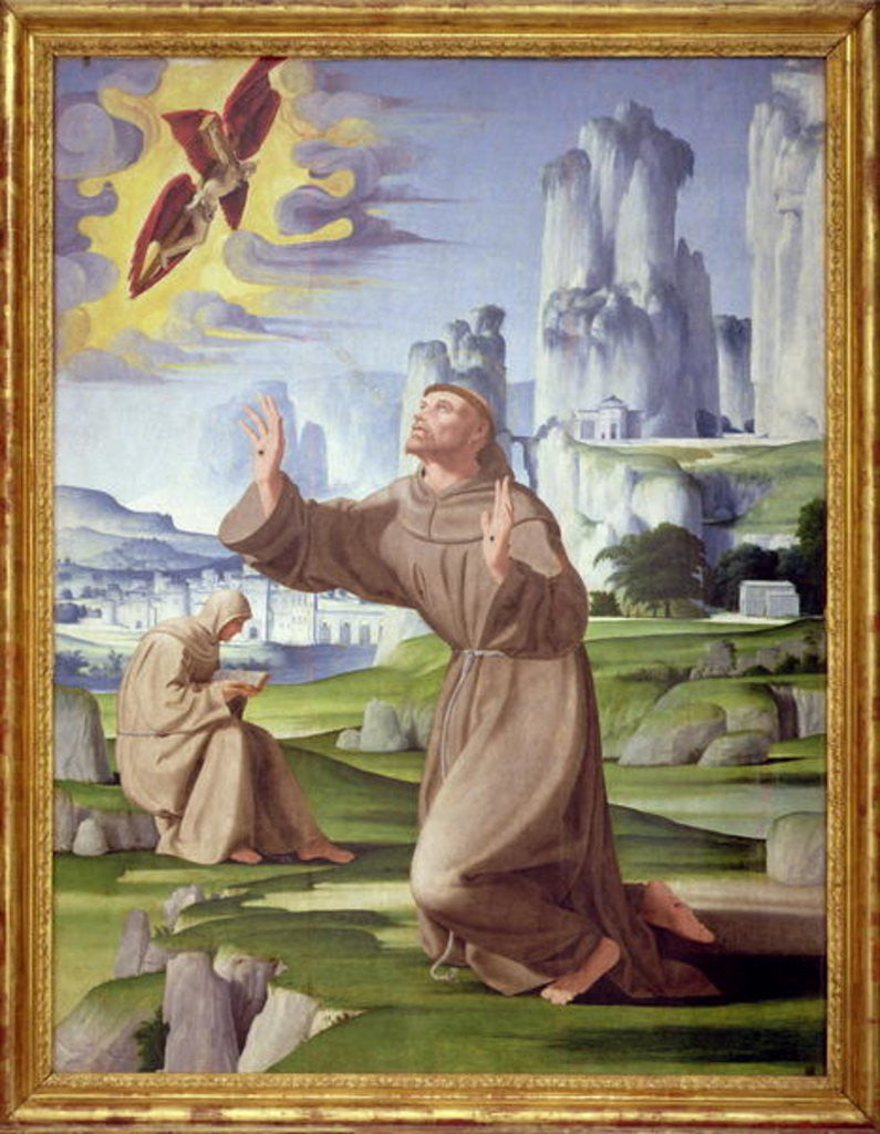 Detail of St. Francis Receiving the Stigmata by Pietro Francione