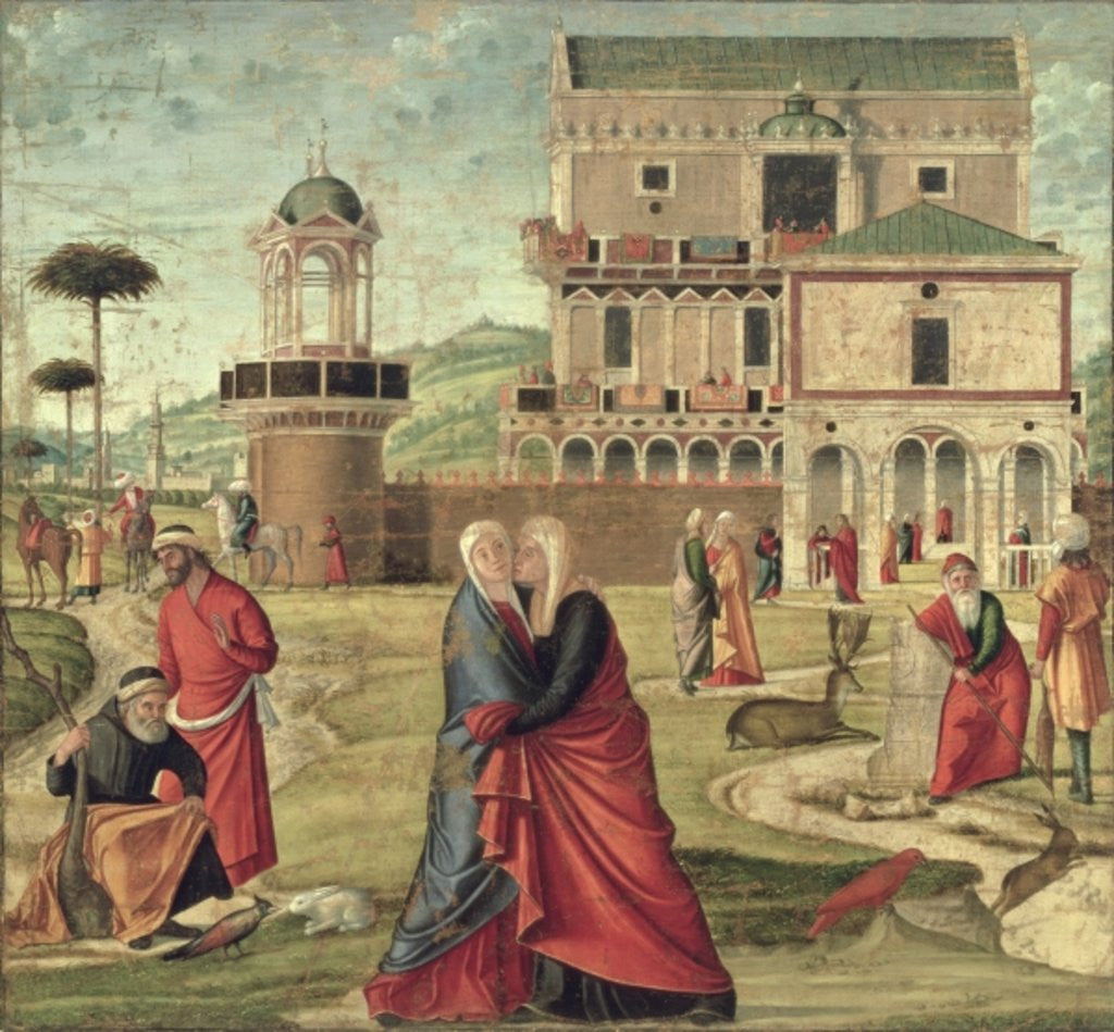Detail of The Visitation by Vittore Carpaccio