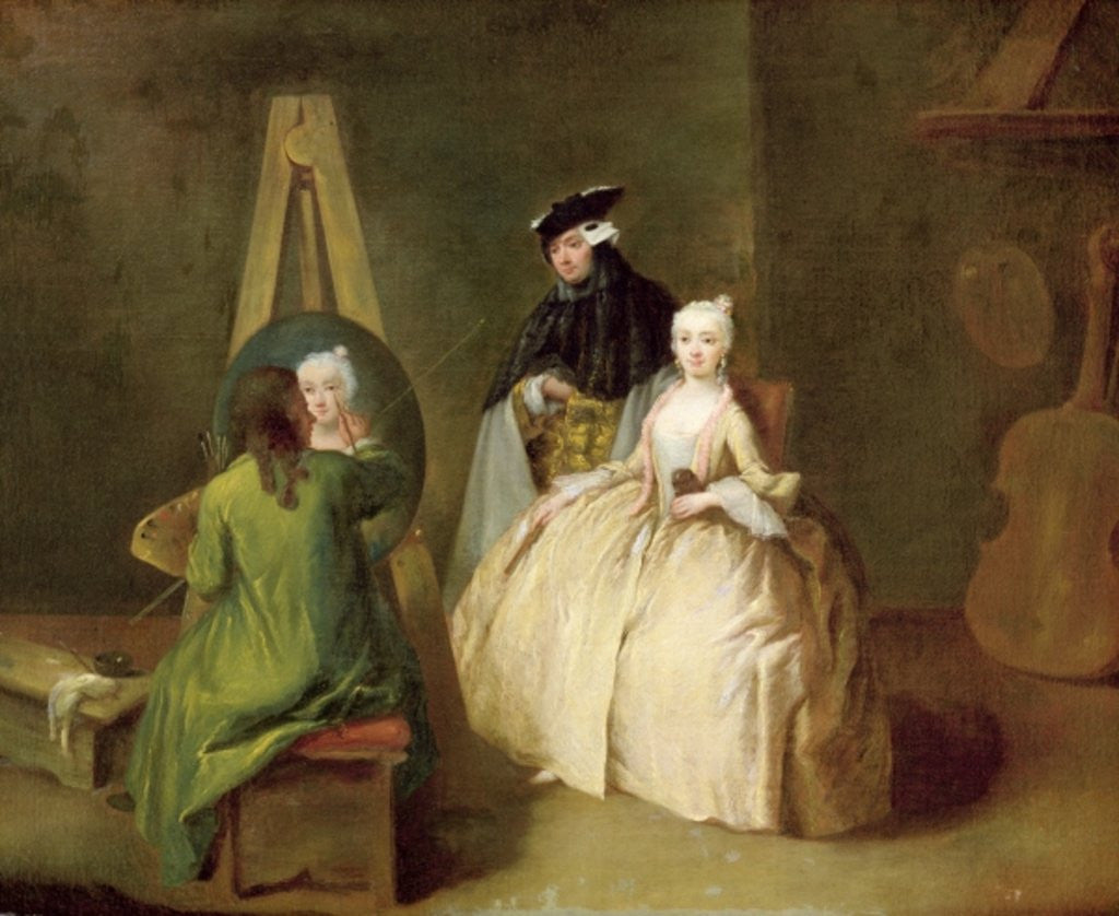 Detail of The Artist's Studio by Pietro Longhi