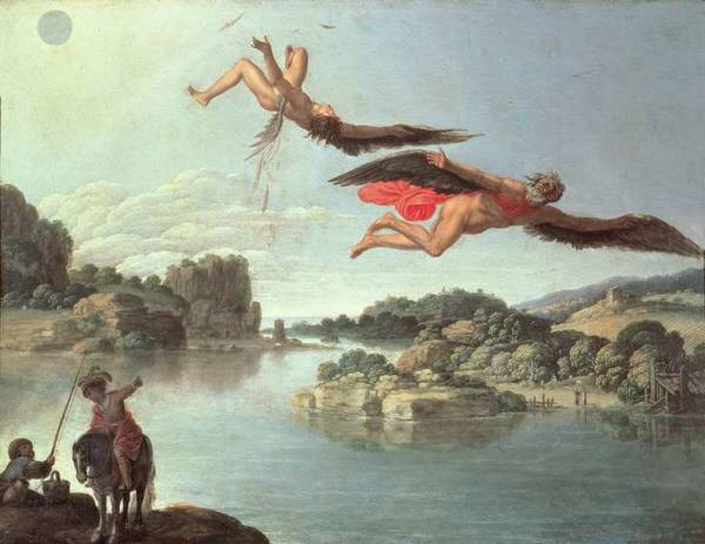 tragic fall of icarus Icarus the tale of icarus is probably the most famous of all greek myths that don't  revolve around either a god or a hero so the story goes, the.