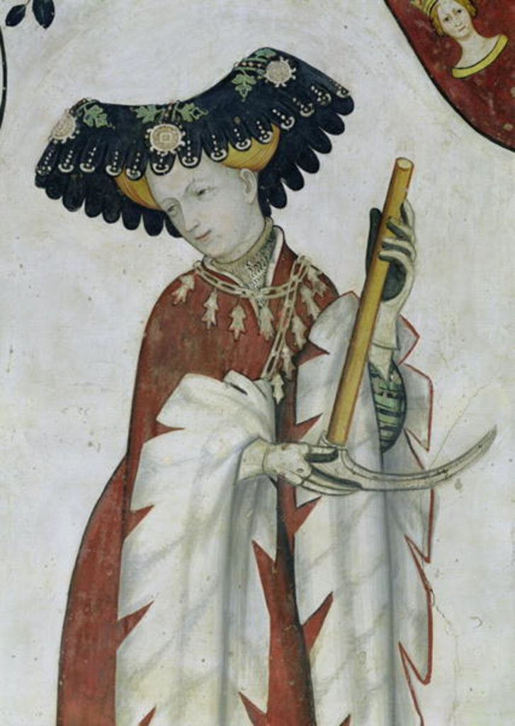 Detail of The Nine Worthies and the Nine Worthy Women, detail of Delphine by Giacomo Jaquerio