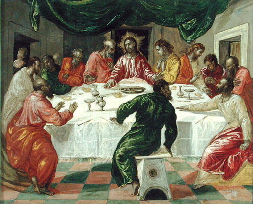 Detail of The Last Supper by El Greco