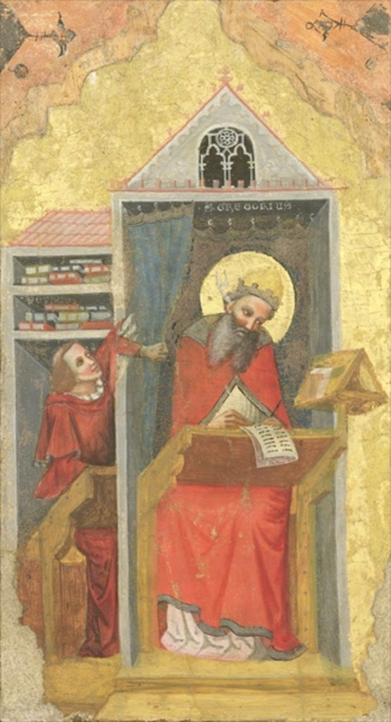 Detail of St. Gregory the Grea in his Study by Pseudo Jacopino di Francesco