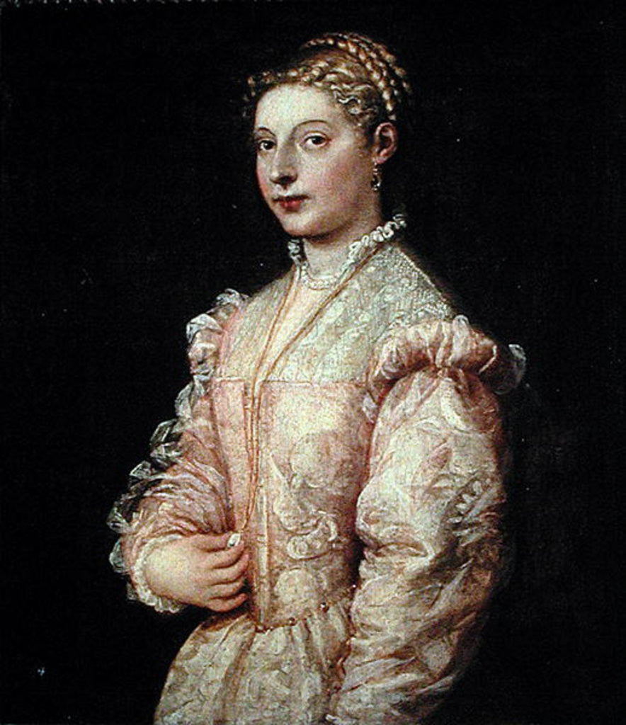 Detail of Portrait of Lavinia Vecellio by Titian