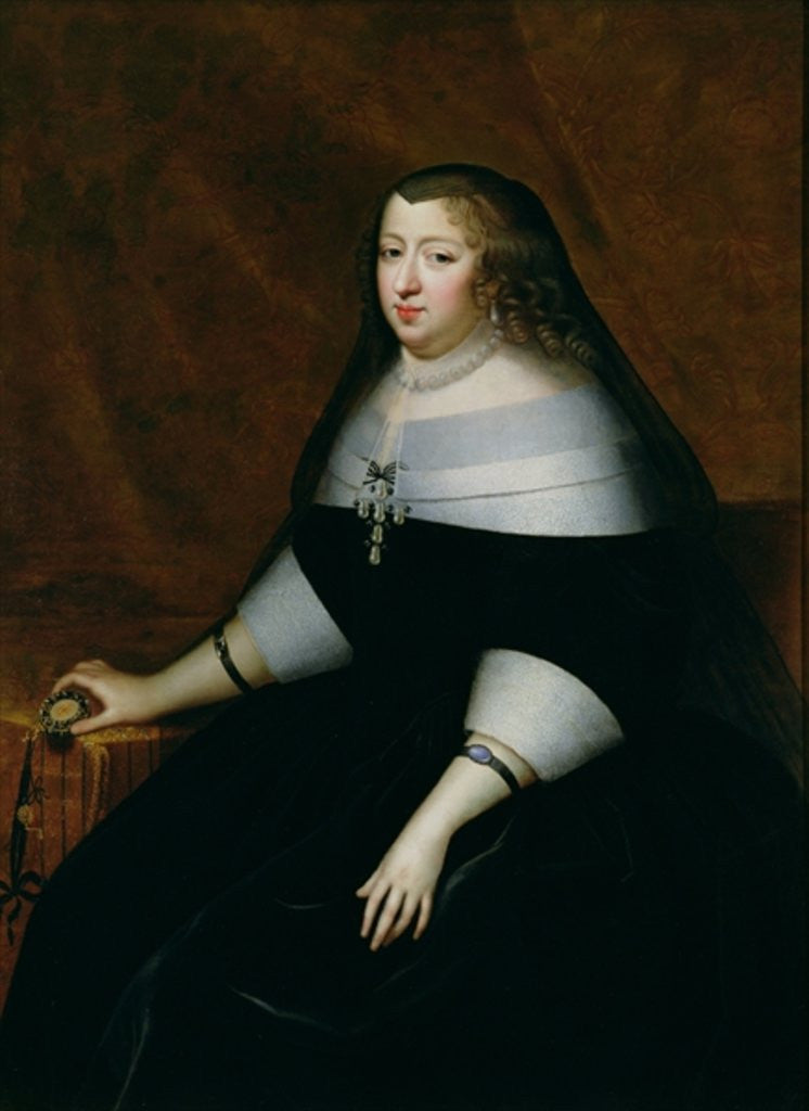 Detail of Portrait of Anne of Austria by Charles Beaubrun
