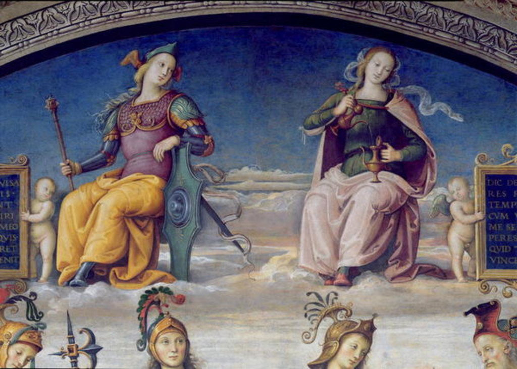 Detail of Fortune and Temperance, detail from the Lunette of Fortune and Temperance by Pietro Perugino