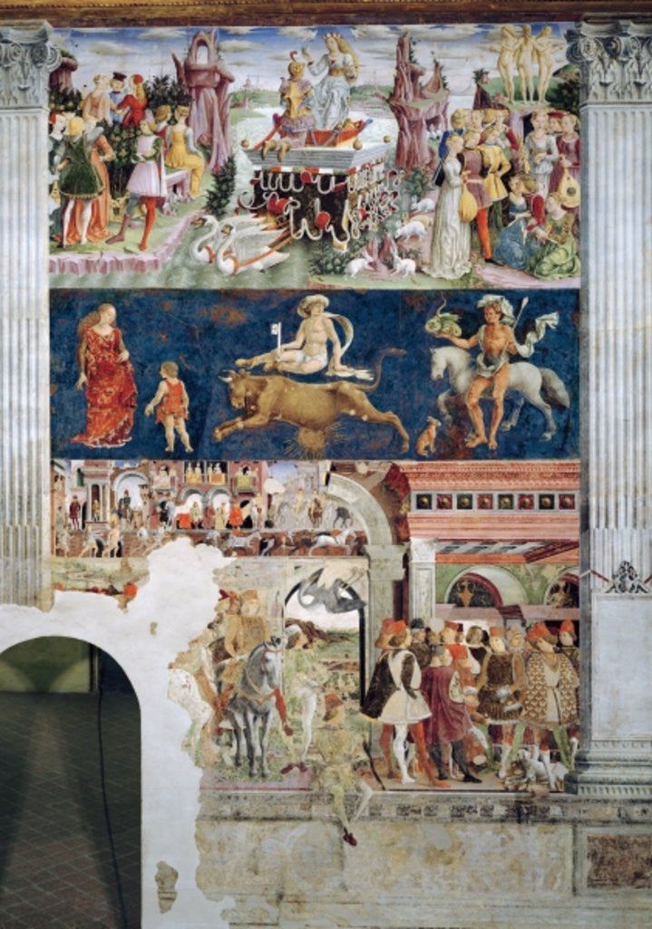 Detail of The Triumph of Venus: April from the Room of the Months by Francesco del Cossa