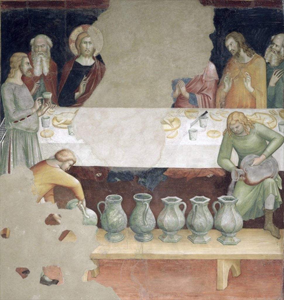 Detail of The Marriage at Cana by Barna da Siena