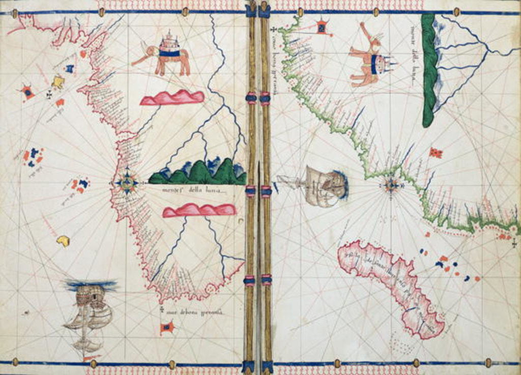 Map of Africa and the Cape of Good Hope posters & prints by Jacopo Russo