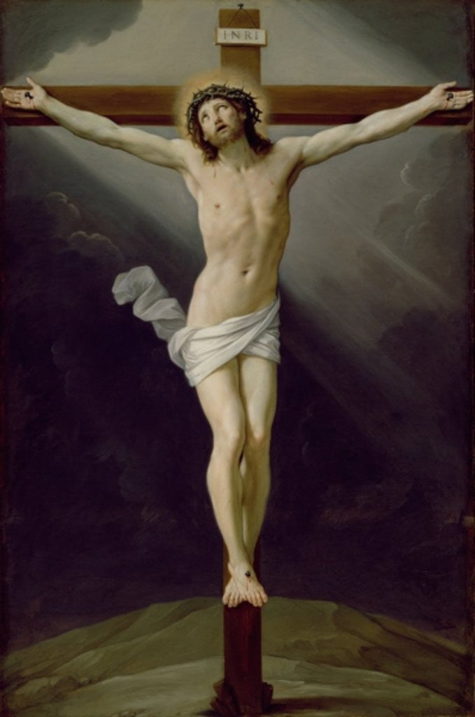 Detail of Christ on the Cross by Guido Reni