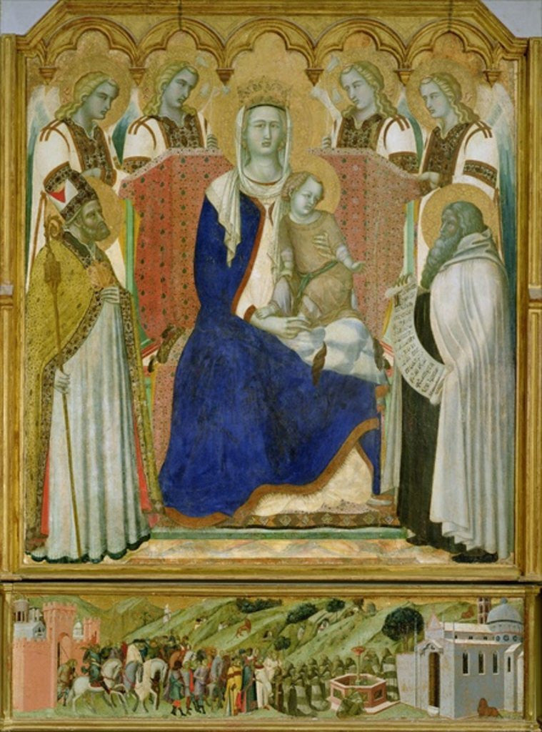 Detail of The Carmine Altarpiece by Pietro Lorenzetti