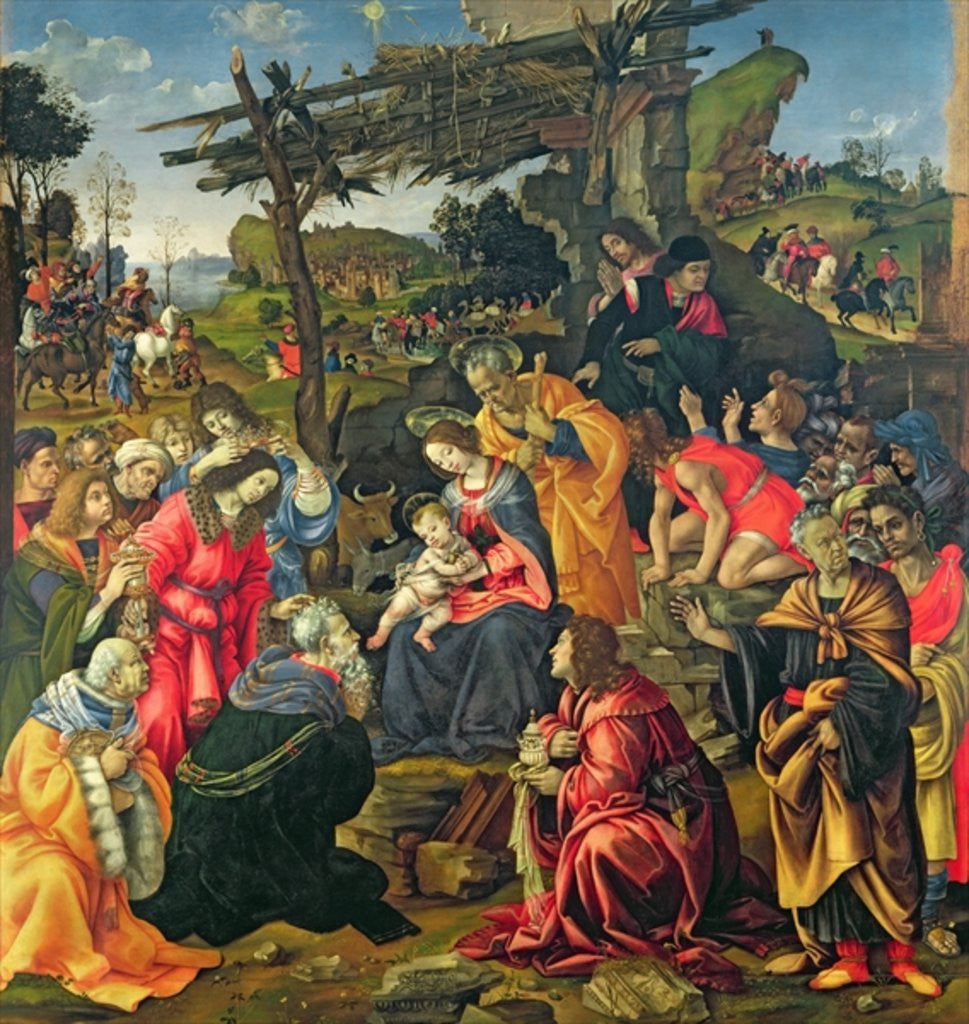 Detail of The Adoration of the Magi by Filippino Lippi