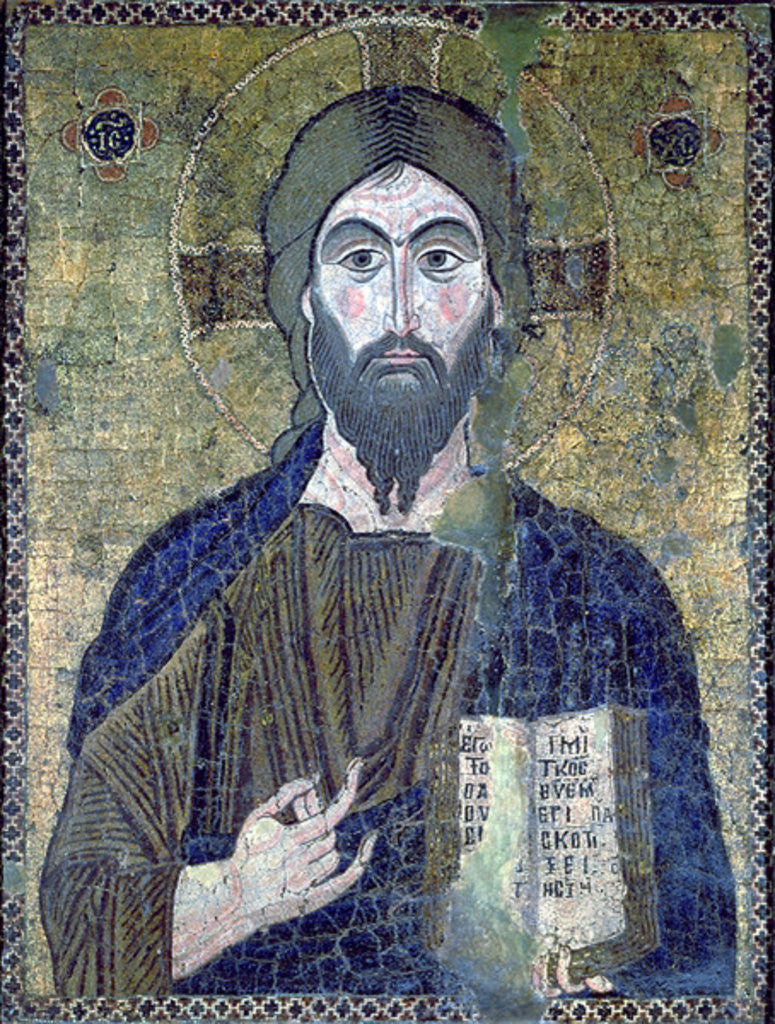 Detail of Christ Pantocrator by Byzantine