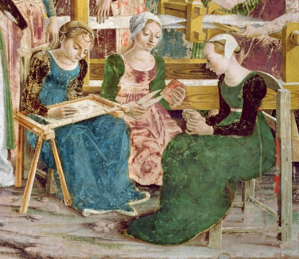 Detail of Needleworkers by Francesco del Cossa