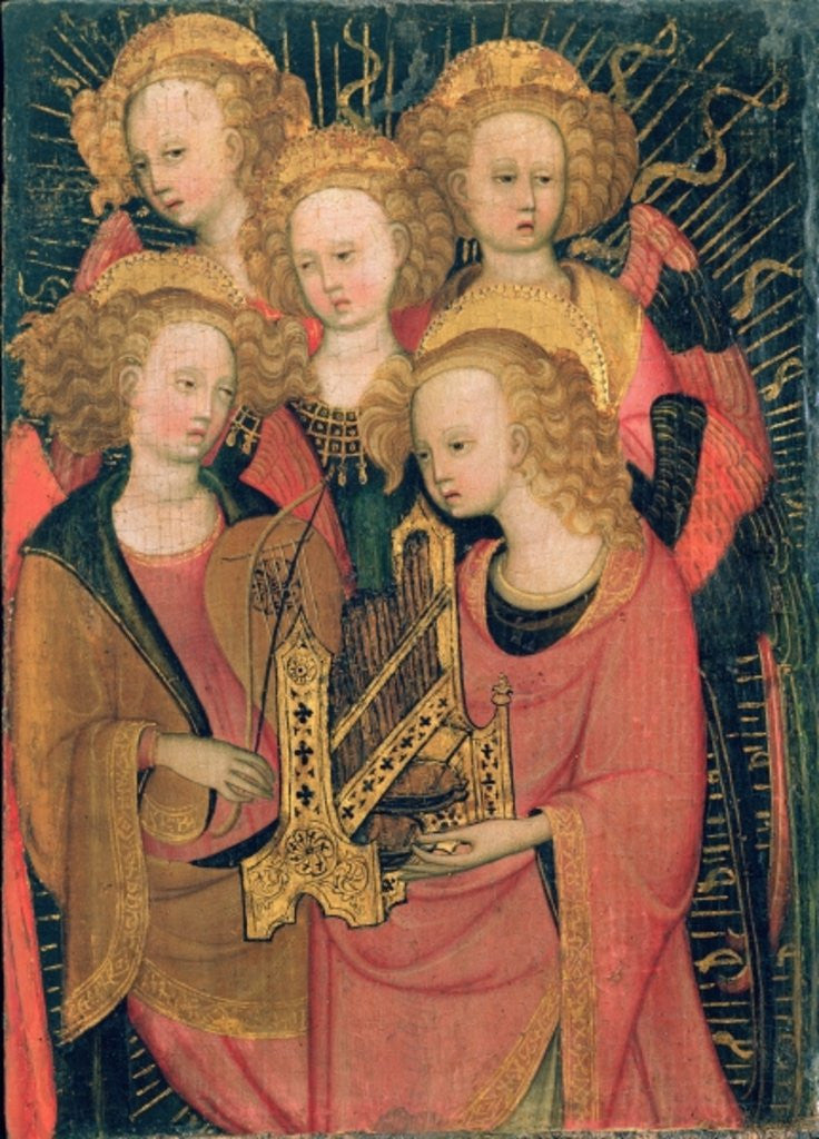 Detail of Angel Musicians by Stefano di Giovanni da Verona