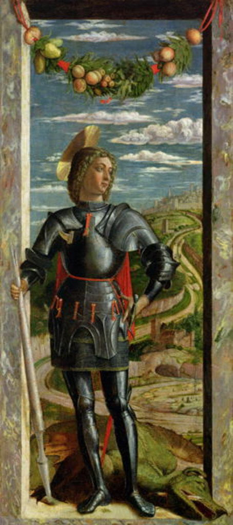 Detail of St. George and the Dragon by Andrea Mantegna