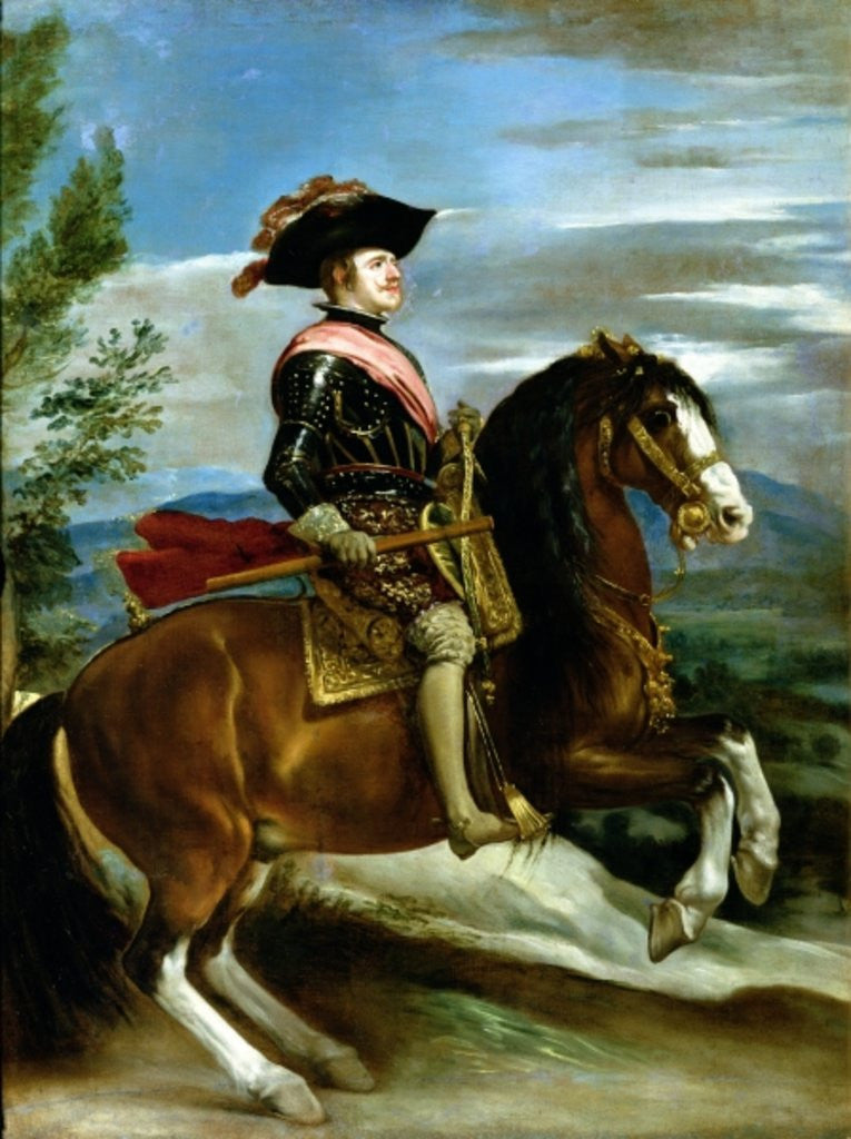 Detail of Equestrian Portrait of King Philip IV of Spain by Diego Rodriguez de Silva y Velazquez