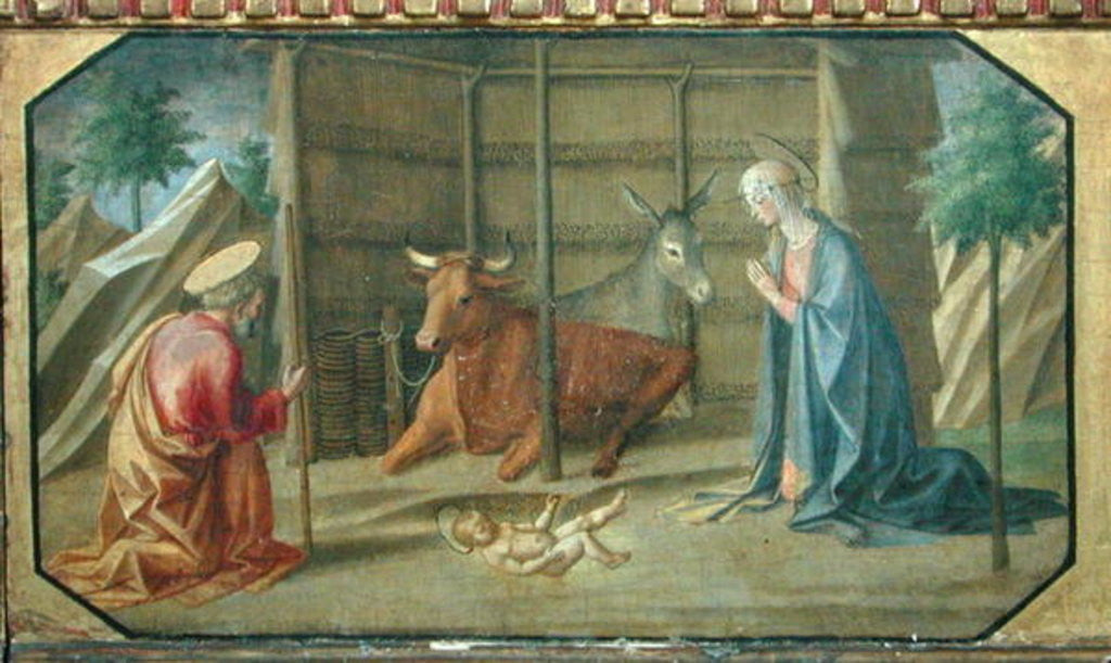 Detail of The Nativity by Francesco di Stefano Pesellino
