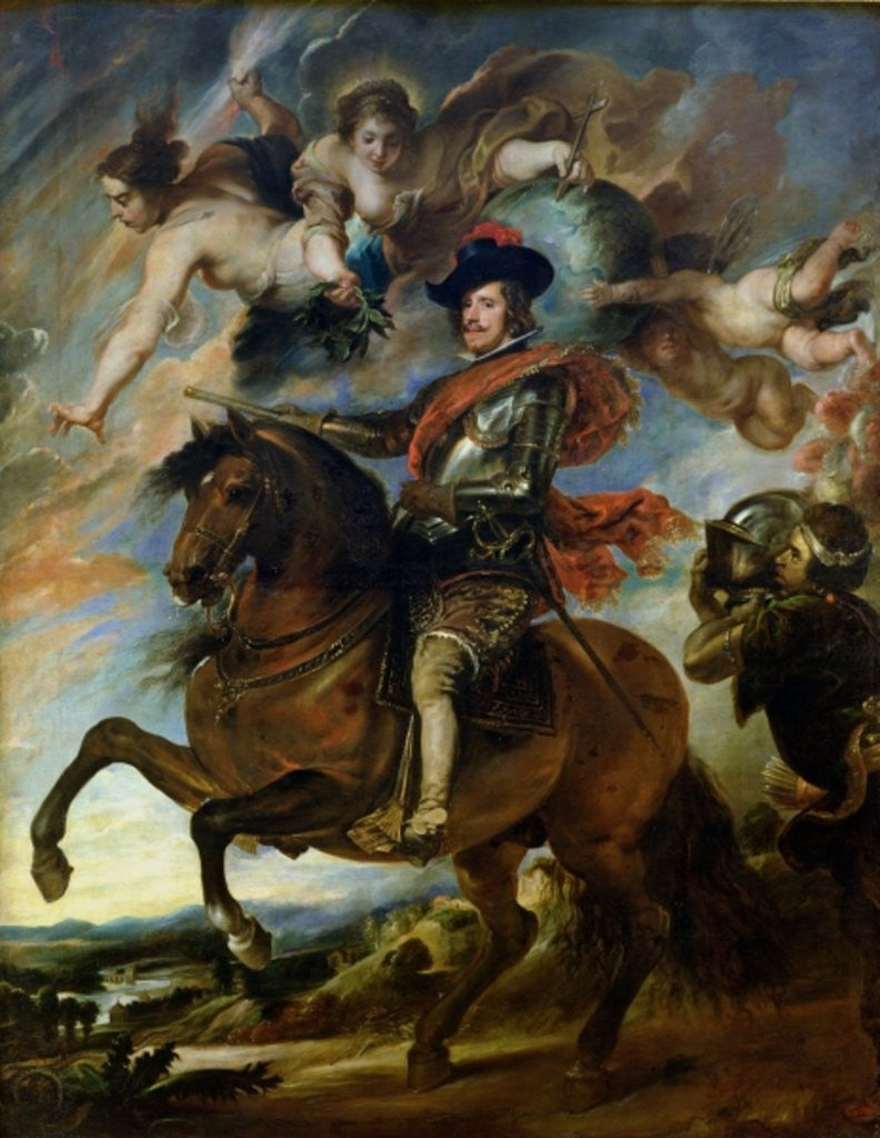 Detail of Equestrian portrait of King Philip IV of Spain by Peter Paul Rubens