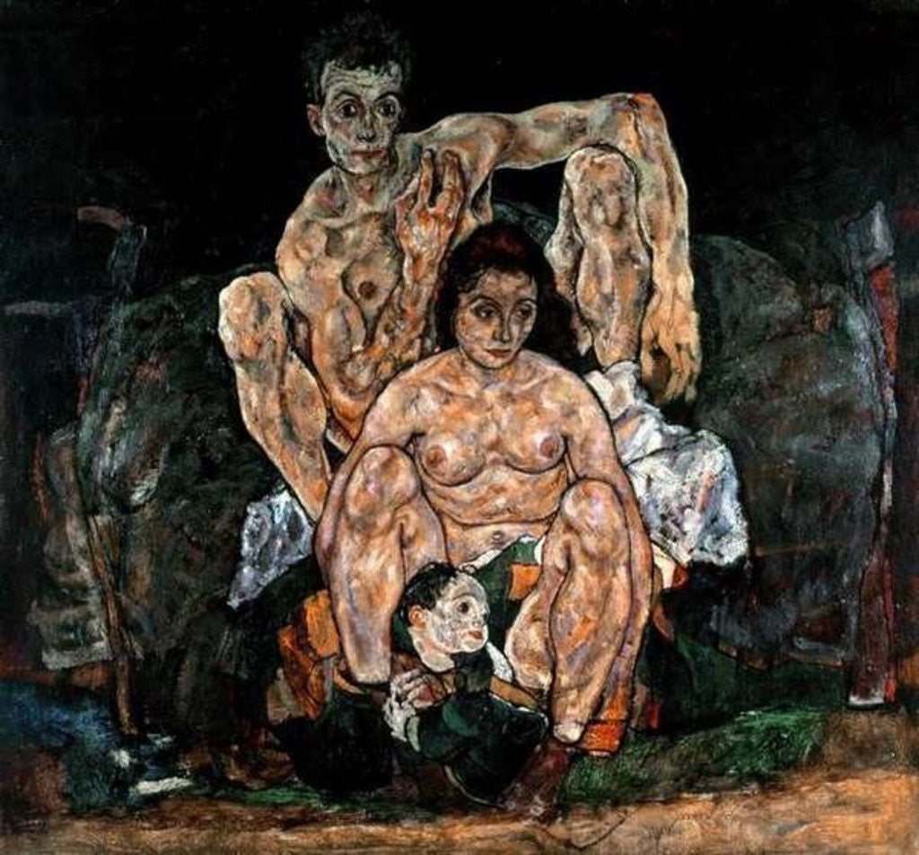 Detail of The Family by Egon Schiele