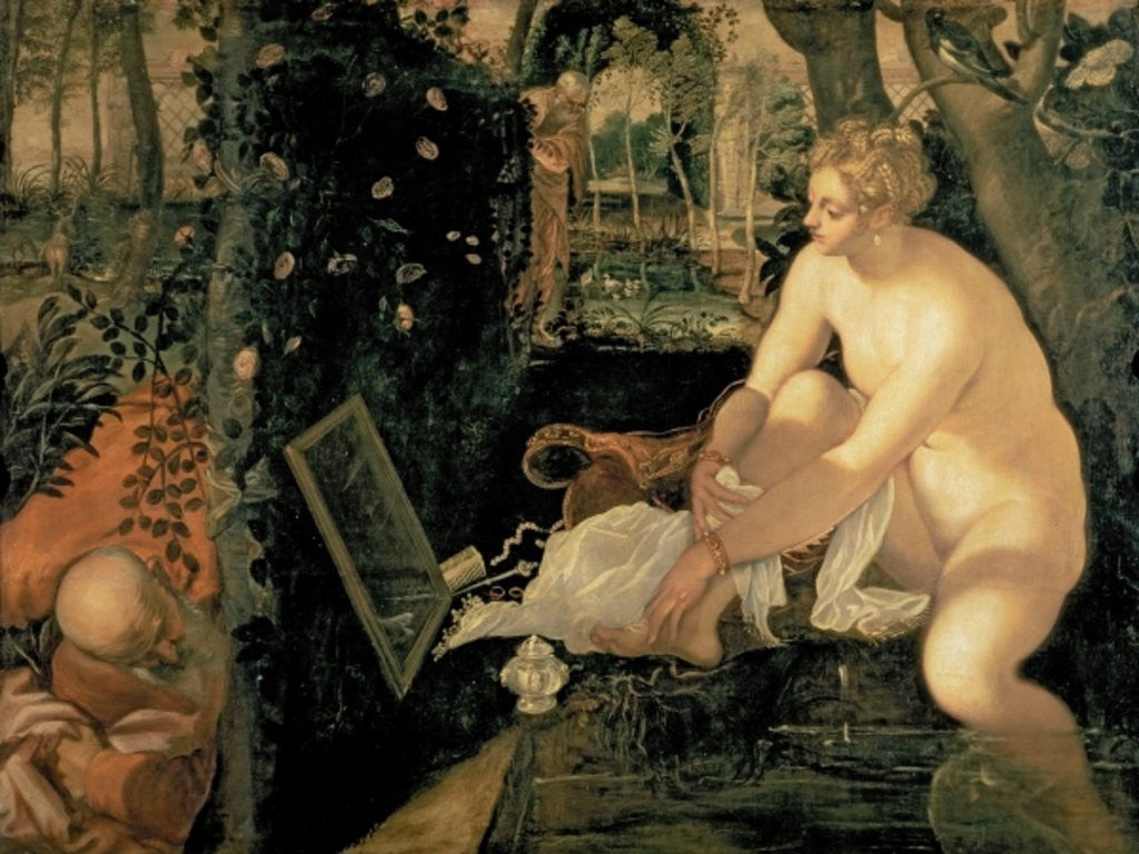 Detail of Susanna Bathing by Jacopo Robusti Tintoretto