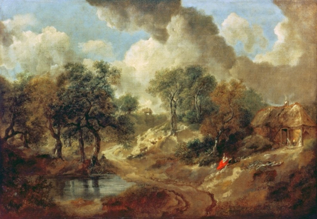 Detail of Suffolk Landscape by Thomas Gainsborough
