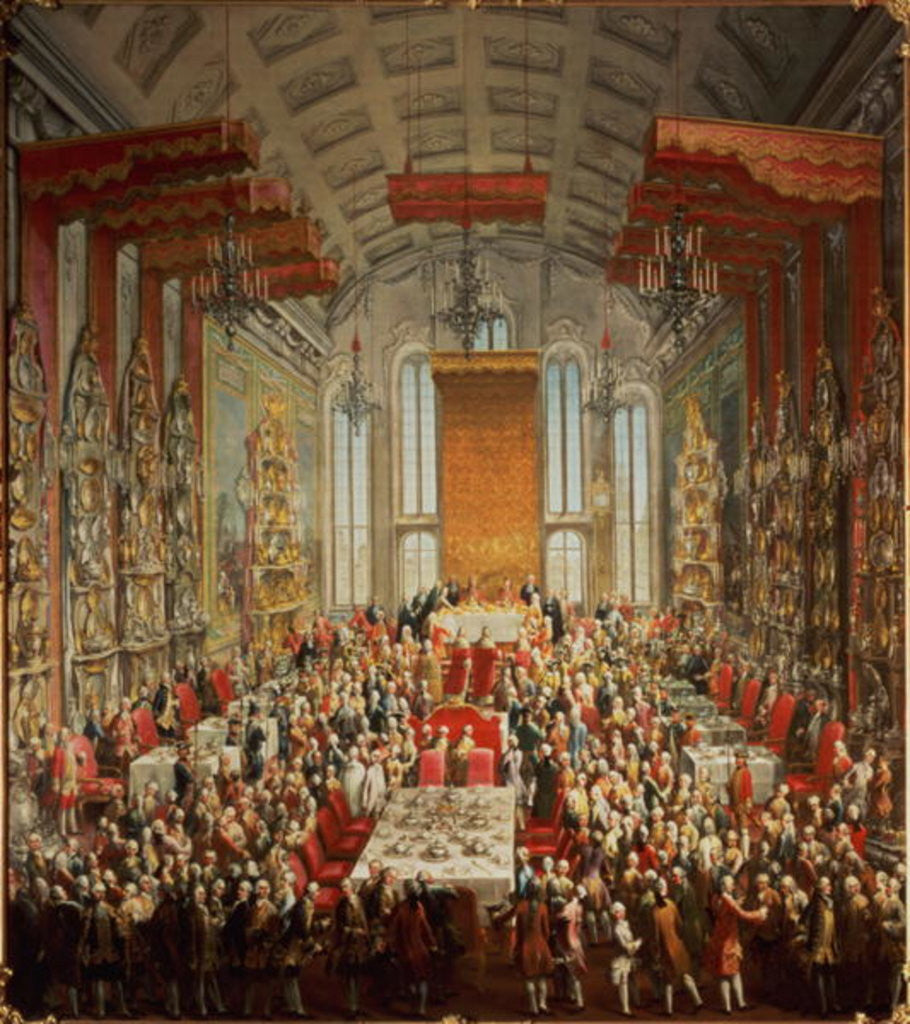 Detail of Coronation Banquet of Joseph II in Frankfurt by Martin II Mytens or Meytens