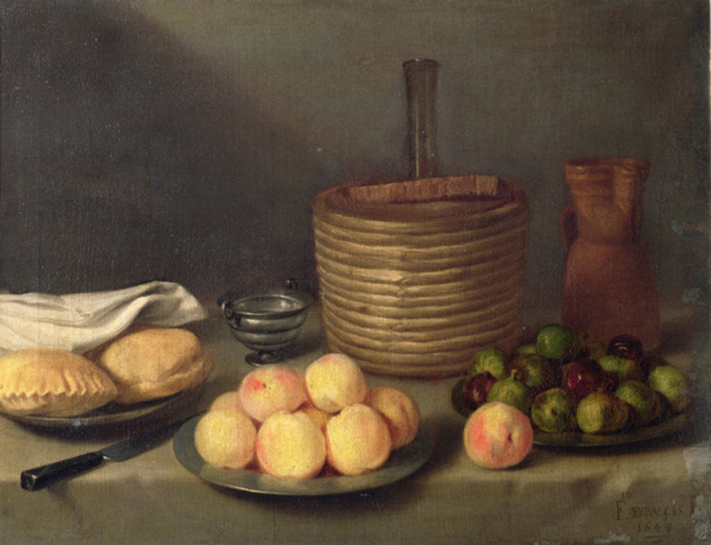 Detail of Still life with fruit by Francisco Palacios