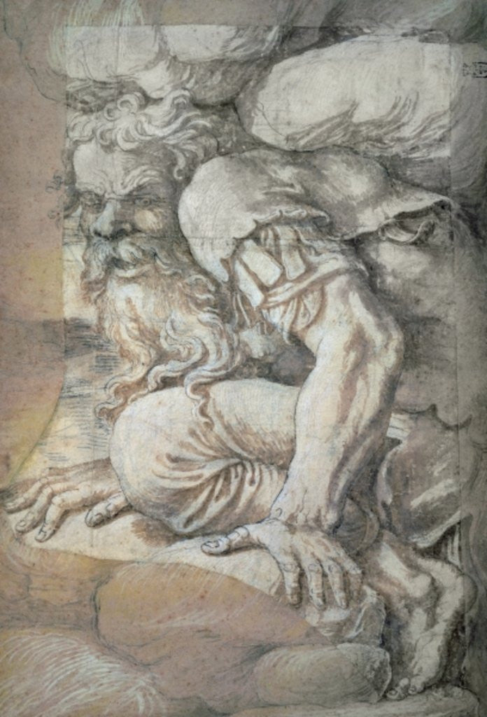 Detail of Giant, sketch for the fresco of the Fall of the Giants, Palazzo del Te, Mantua by Giulio Romano