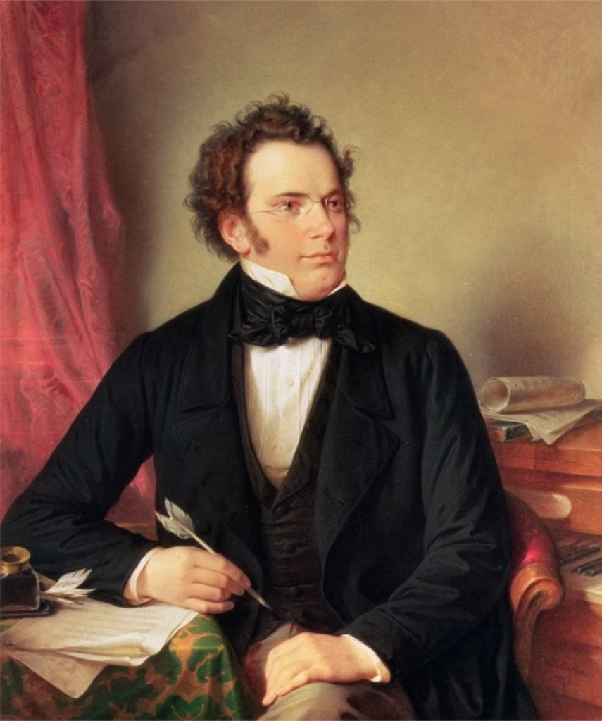 Detail of Franz Peter Schubert by Wilhelm August Rieder