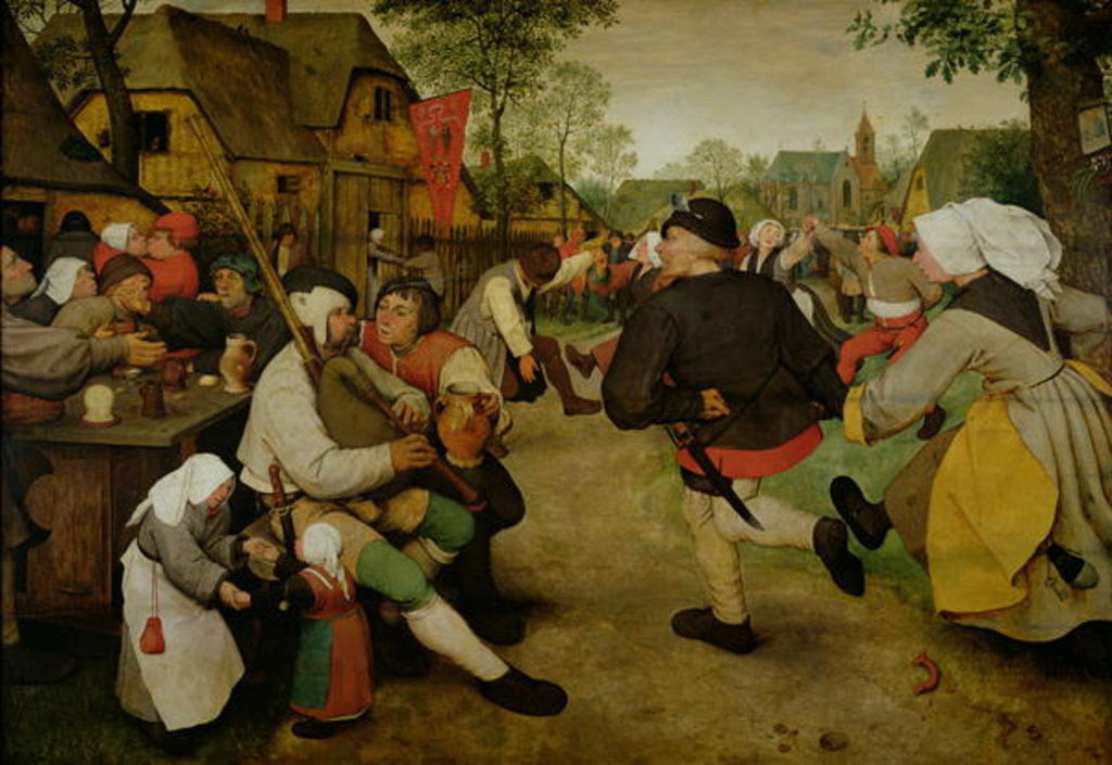 Detail of Peasant Dance, (Bauerntanz) by Pieter Bruegel the Elder