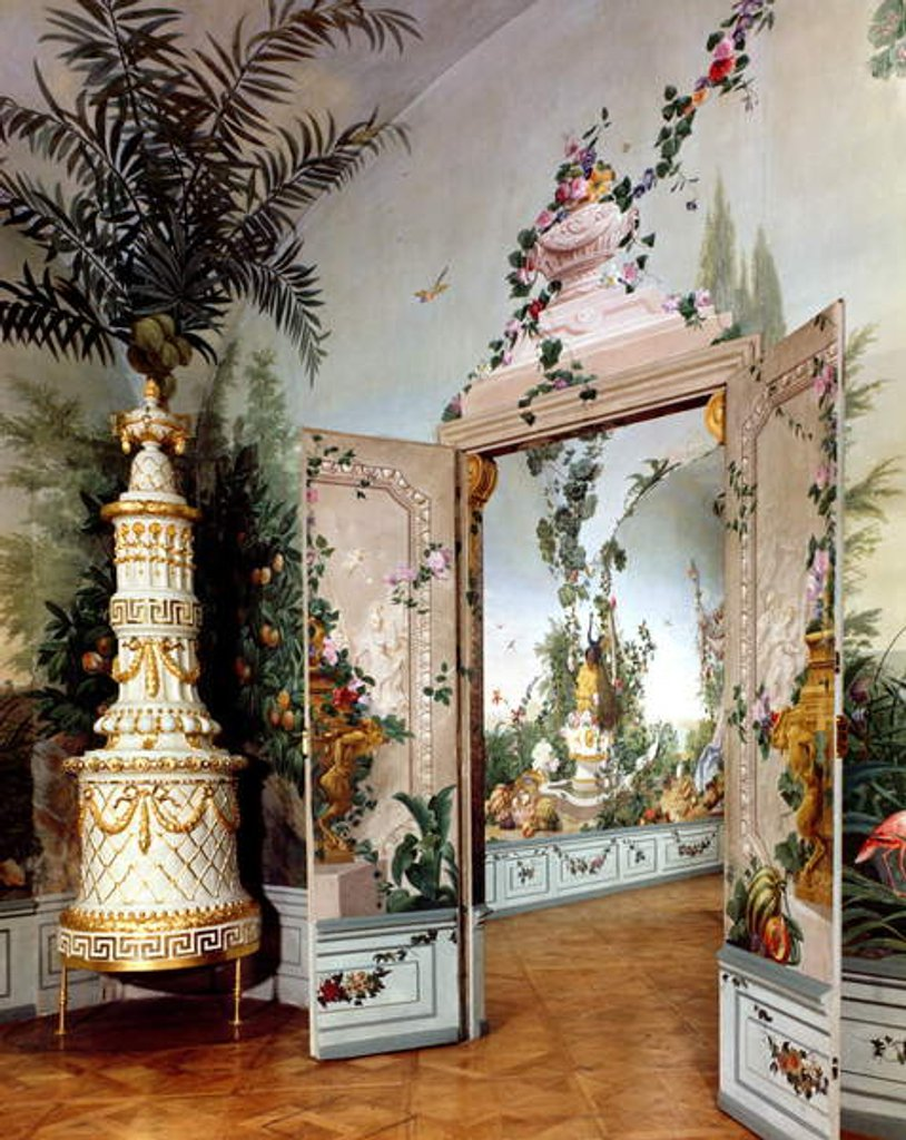 Detail of The Bergl Apartments: trompe l'oeil decoration painted by Johann Bergl, 18th century by Johann Wenzel Bergl