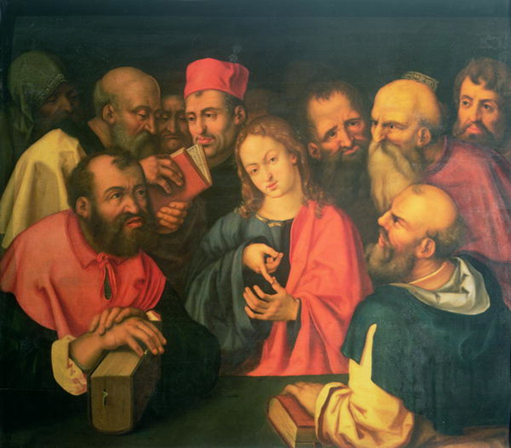 Christ, aged twelve, among the scribes