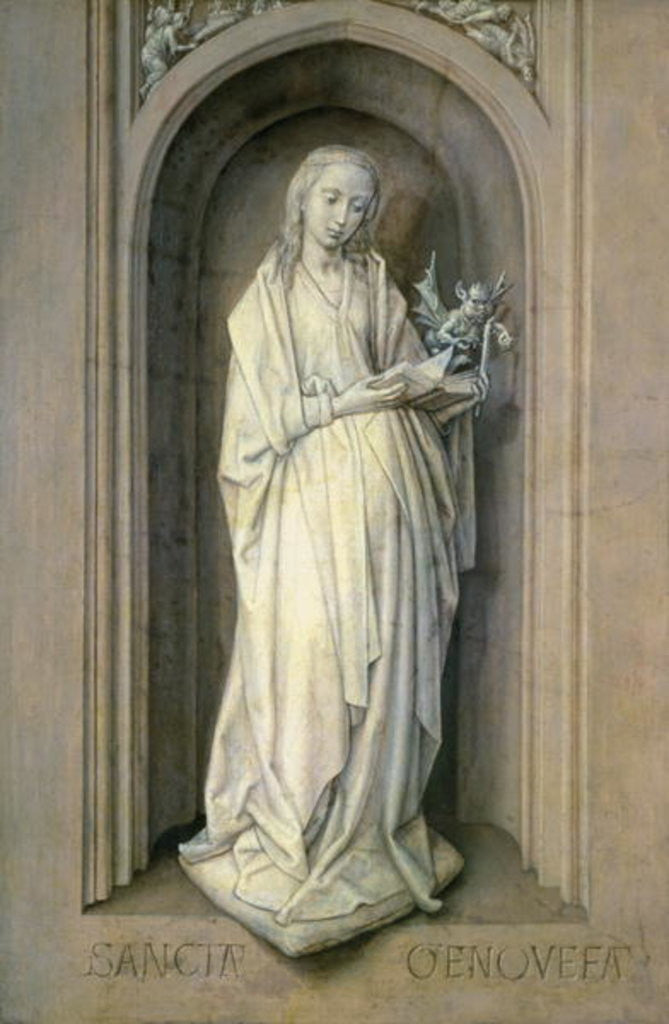 Detail of St. Genevieve (d.c.500) by Hugo van der Goes